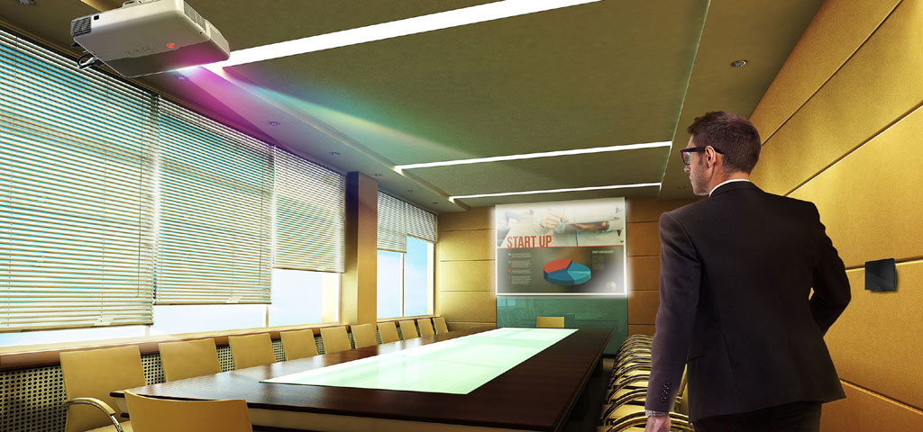 Akıllı Ofis Sistemleri Toplantı Odası Perde Projeksiyon Aydınlatma Otomasyonu